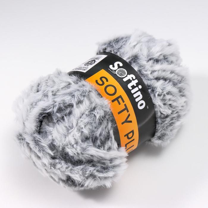 Пряжа фантазийная 100 микрофибра 'Softy plush' 100 гр 65 м чернобурка (комплект из 10 шт.) - фото 2