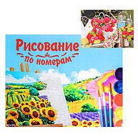 Картина по номерам на холсте, 40 x 50 см 'Розовые цветы в саду'