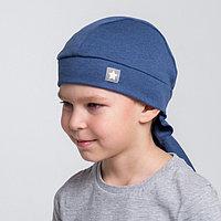 Бандана для мальчика, цвет индиго/звезда, размер 54-58