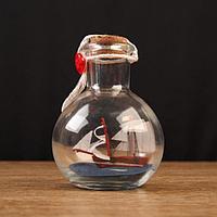 Корабль сувенирный 'Всеслав', в бутылке, вертикальн. 9*7см