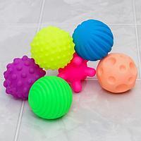 Набор игрушек для купания 'Шарики', 6 шт, с пищалкой, цвета и формы МИКС