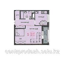 1 комнатная квартира ЖК Аскер 44.02 м2