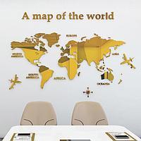 Декор настенный 'Карта мира', 100 х 180 см