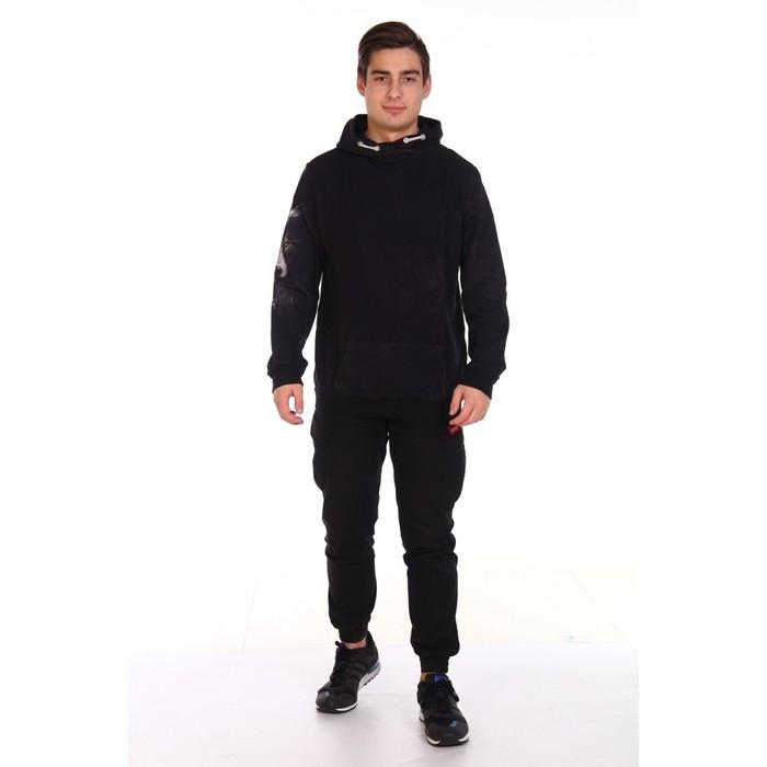 Худи мужское VOLK, цвет чёрный, размер 48 - фото 3