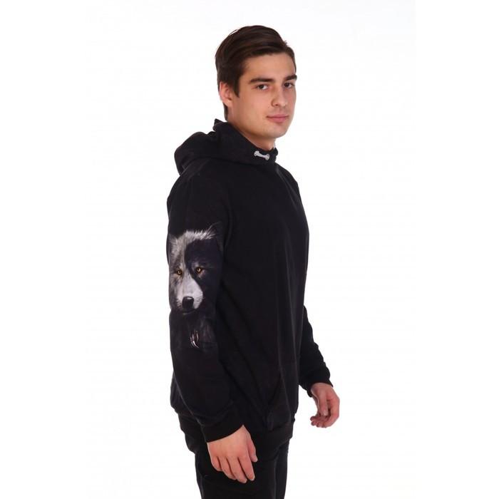 Худи мужское VOLK, цвет чёрный, размер 52 - фото 2