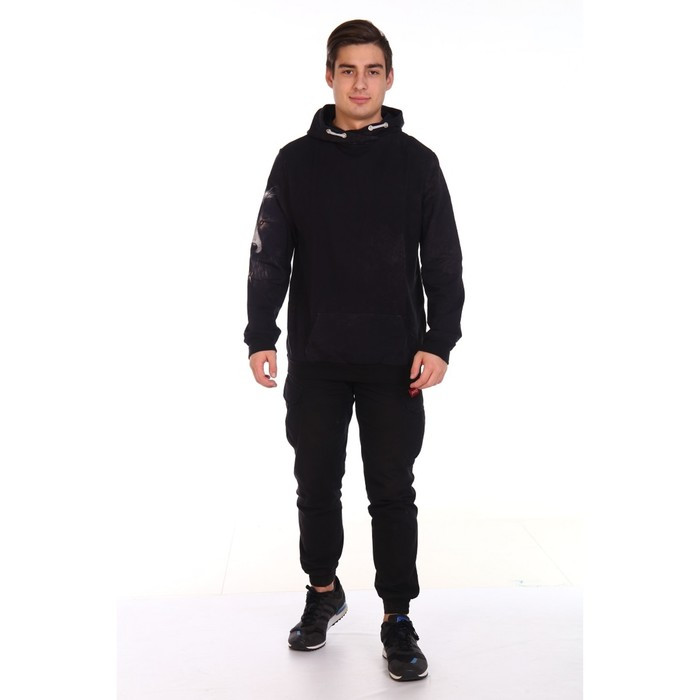 Худи мужское VOLK, цвет чёрный, размер 52 - фото 3