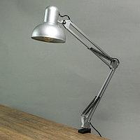 Лампа настольная на шарнире 800 'Крус, серебро' E27 40W