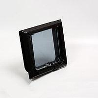 Дверца для животных 'БАРСИК', проём 145*145 мм, толщина двери 36-42 мм, чёрный