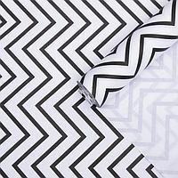 Бумага упаковочная крафт 'Зигзаг на белом', 0,55 х 10 м, 70 г/м
