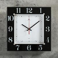 Часы настенные, серия Классика, 'Классика', 31х31 см стекло, черные Рубин