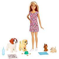 Игровой набор 'Кукла и щенки'