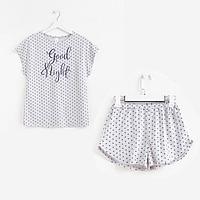 Пижама женская, цвет серый меланж, размер 52