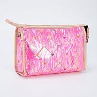 Косметичка-сумочка, отдел на молнии, с ручкой, цвет малиновый