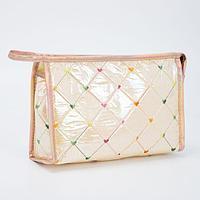 Косметичка-сумочка, отдел на молнии, с ручкой, цвет бежевый