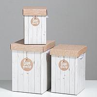 Набор коробок 3 в 1 'Доски', 10 x 18 см, 14 x 23 см, 17 x 25 см