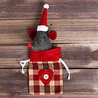 Мешочек для подарков 'Мышонок в колпаке', вместимость 150 г, цвета и виды МИКС