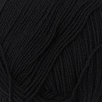 Пряжа 'Австралийский меринос' 95меринос. шерсть,5 акрил объёмный 400м/100гр (02-Чёрный)