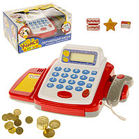 Обучающая касса-калькулятор 'Учимся и играем', игрушечная, с аксессуарами, световые и звуковые эффекты