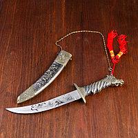 Сув. изделие кортик ножны Кони хром, рукоять Конь, на лезвии узор 37 см