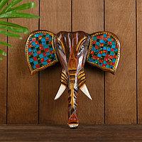 Сувенир интерьерный 'Голова слона' дерево 30х4х30 см
