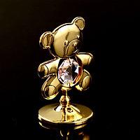 Сувенир с кристаллами Swarovski 'Медвежонок Тедди' 5,5х3,7 см