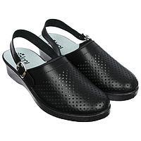 Туфли сабо женские 'Эмануэла', цвет чёрный, размер 37