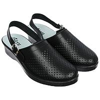 Туфли сабо женские 'Эмануэла', цвет чёрный, размер 39