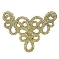 Плетёный угол золото желтое, в наборе 10 штук