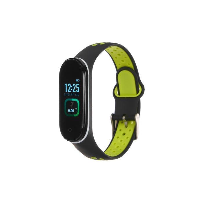 Фитнес-браслет Smarterra Fitmaster TON, 0.96, TFT, IP65, NFC, 90 мАч, чёрно-зеленый - фото 1