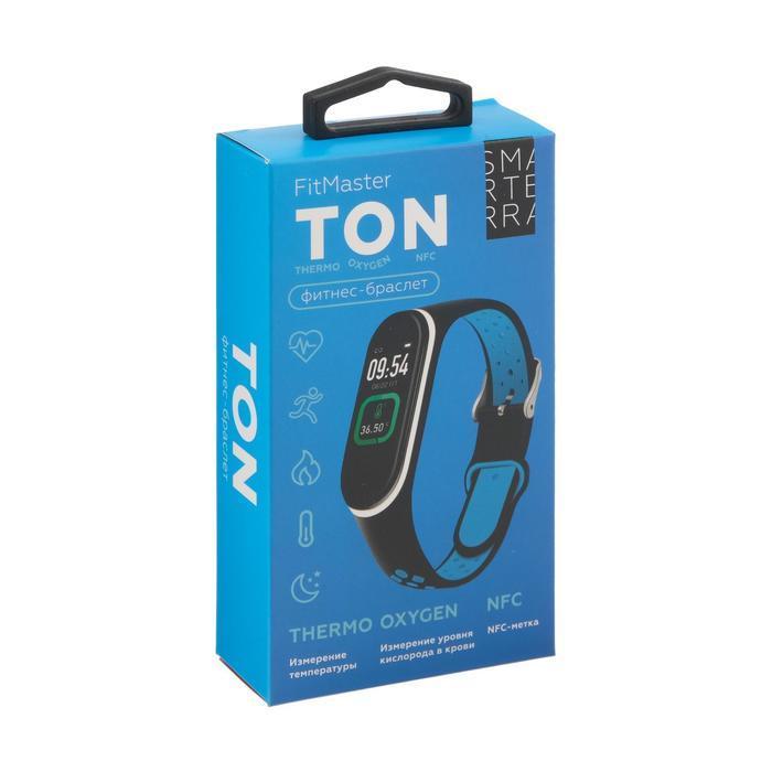 Фитнес-браслет Smarterra Fitmaster TON, 0.96, TFT, IP65, NFC, 90 мАч, чёрно-зеленый - фото 7