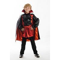 Карнавальный костюм 'Вампир', жакет, брюки, накидка, р. 34, рост 134 см