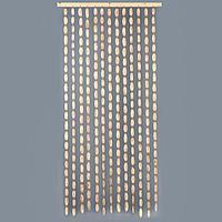 Эко-занавеска деревянная 'Спилы', 180 х 80 см, спил сосны