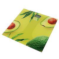 Весы напольные Irit IR-7269. электронные, до 180 кг, стекло, 2хААА, рисунок 'авокадо'