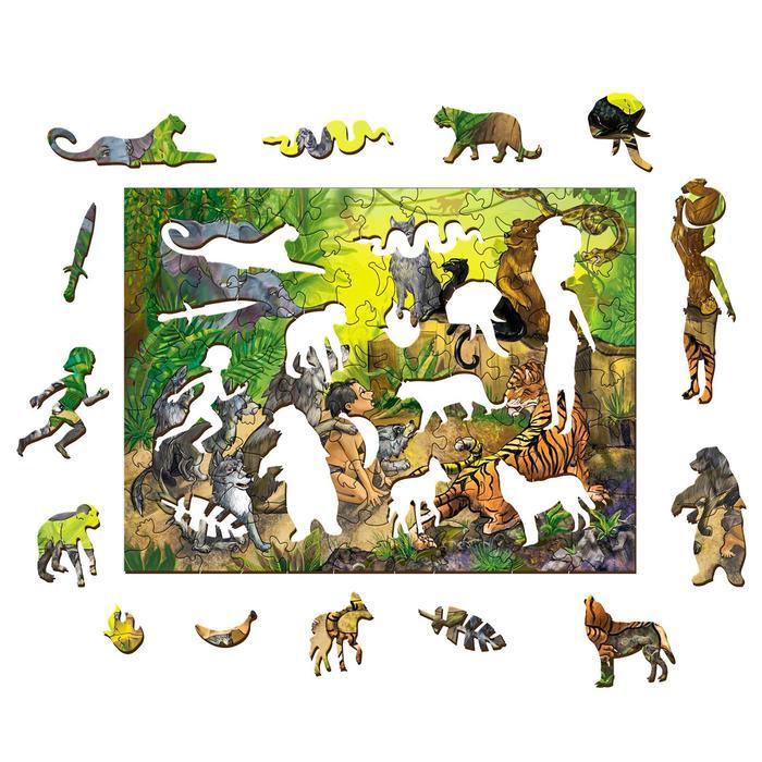 Фигурный деревянный пазл 'Маугли' серия 'Страна сказок' - фото 2