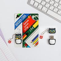 Флеш-карта на открытке 'Сова', 4 Gb, 14 х 10 см