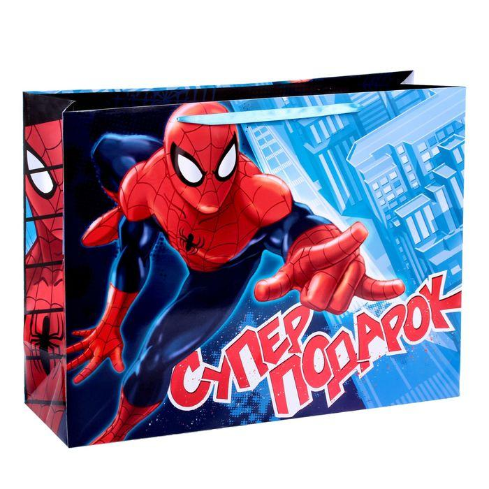 Пакет ламинированный горизонтальный 'Супер подарок',Человек-паук , 61 х 46 х 20 см - фото 1