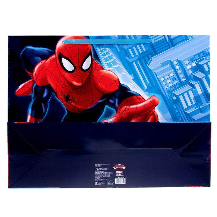 Пакет ламинированный горизонтальный 'Супер подарок',Человек-паук , 61 х 46 х 20 см - фото 3