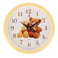 Часы настенные, серия Детские, 'Мишки', 22х22 см