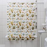 Штора для ванной комнаты Доляна 'Галька', 180x180 см, EVA