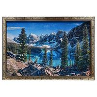 Гобеленовая картина 'Горные вершины' 44*64 см рамка микс
