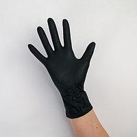 Перчатки A.D.M. нитриловые, размер M, 8 гр, 100 шт/уп, цвет чёрный