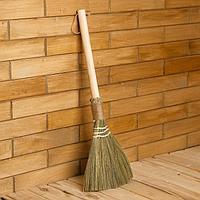 Веник с деревянной ручкой, 60 см, бамбук