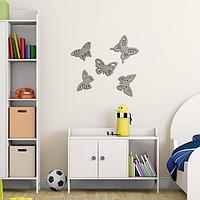 Декор настенный 'Бабочки', 5 элементов, 7-11х12 см