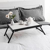 Столик для завтрака 'Ренессанс', 60 х 40 см, массив ясеня, цвет черный
