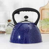 Чайник со свистком Доляна 'Космос', 3 л, цвет синий