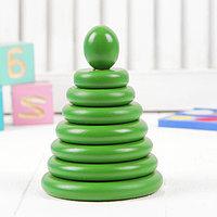 Пирамидка 'Зелёная', 8 деталей