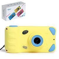 Детский фотоаппарат 'Котик', дисплей 4,39 дюйма, цвет жёлтый