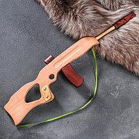 Сувенирное деревянное оружие 'Автомат с глушителем', 60 х 15 см, массив бука