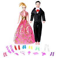 Набор кукол 'Семья' с набором обуви и аксессуарами, МИКС