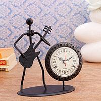 Часы настольные 'Трубадур', 19х17 см, циферблат d-7 см, 1 АА, микс